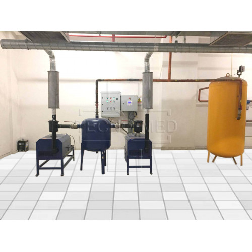 Medical Vacuum Plant 250m³/h x 2pcs